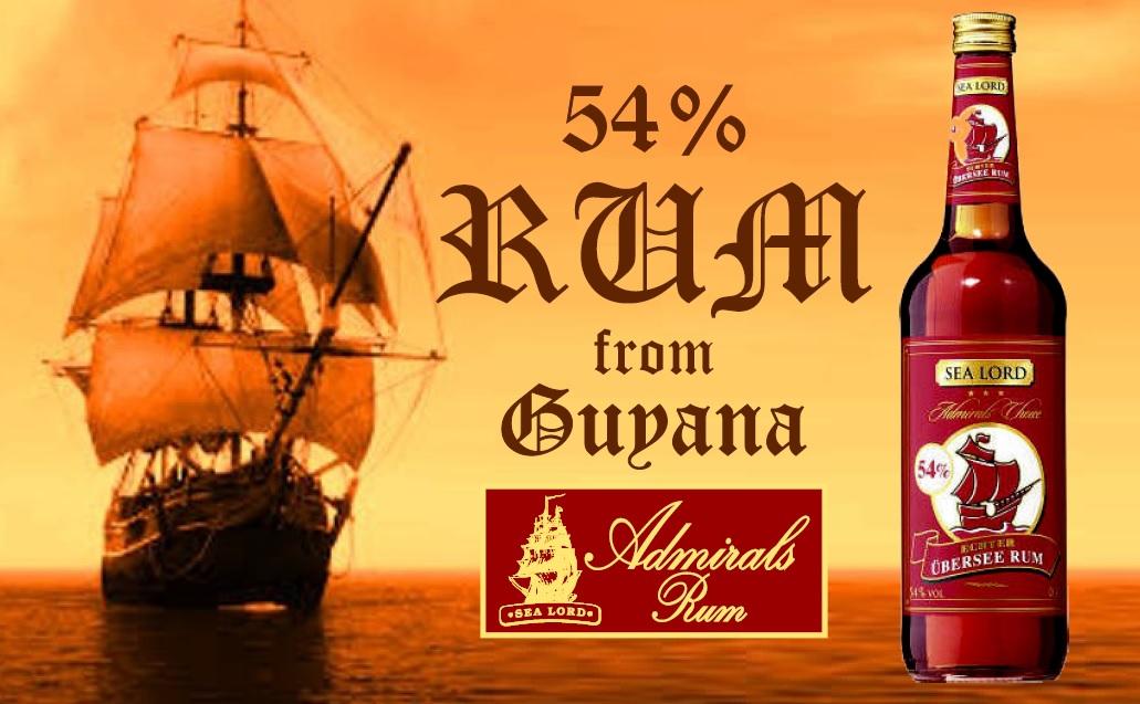 RUM SEA LORD Admirals rum banner
