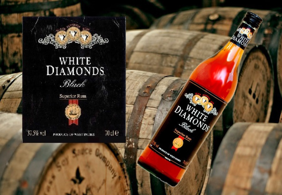 RUM white diamonds banner